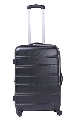 "Travelhouse ABS Hard shell 4 wheel Travel Trolley Suitcase Luggage set Holdall Case(24"", Black)"