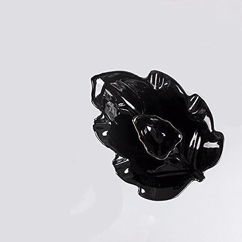 MDRW-Les Fumeurs Doivent Des Céramiques De Style Européen Créatives Simples Cendrier Chinois Antique Fume Extincteur Cendrierles Feuilles De L'Érable Noir
