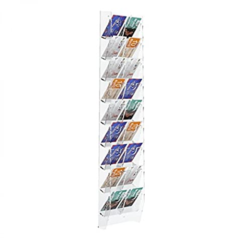 Acrylic countertop phone card display case - 2 Columns with 18 tiers Dimensions: 5.12''W x 2.17'' D x 23.62'' T