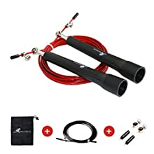 Neotrive Corde à Sauter Crossfit Fitness Double Under Speed Rope Jumping Skipping Rope Fitness Homme Femme