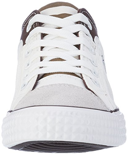Nebulus Damen Maritime Sneaker Mehrfarbig (Weiß-Braun)