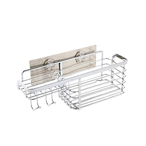 LUYIASI- Regal Nordic Free Punching Edelstahl Dressing Rack Wand Racks Küche Wand Gewürz Regal Lagerregal 19,8 * 19,5 * 28 cm Shelf -