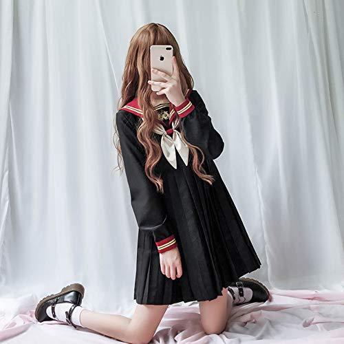 QAQBDBCKL Mädchen Uniform Lolita Kleid Plisseerock Frauen Cosplay Student Kostüme Tea - Tea Party Mädchen Kostüm