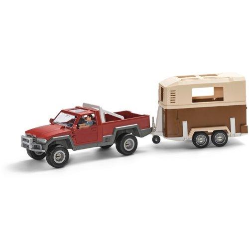Schleich kt-20205 Pick-up mit Anhänger-42090, 42091 (2-teilig)