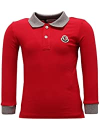 MONCLER 2276V Polo Bimbo Maglia Red Polo t-Shirt Kid
