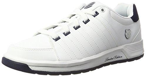 K-Swiss Berlo Ii S, Sneakers Basses Homme Blanc (White/Navy)