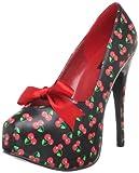 Pin Up Couture TEEZE-12-6 Blk Pu (Cherries Print) UK 5 (EU 38)