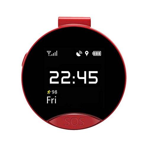 PRENKIN S9 Ältere intelligente GPS-Positionierung Locator Smart-Taschen-Uhr-Unterstützung Kleine SIM-Telefonkarte Zwei-Wege-Anruf SOS Red