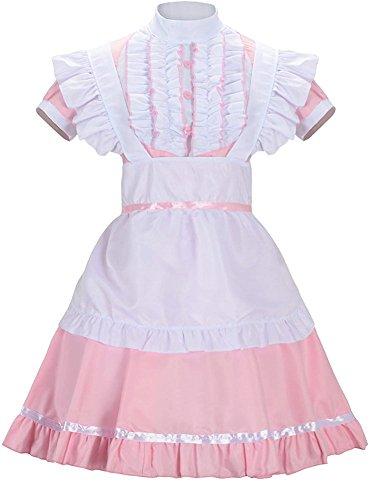 (Damen Französisch Maid Lolita Kleid mit Katze Ohr Kostüm (XL))