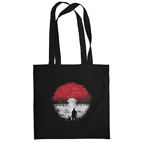 Texlab–Poke Skyline Logo–sacchetto di stoffa Nero