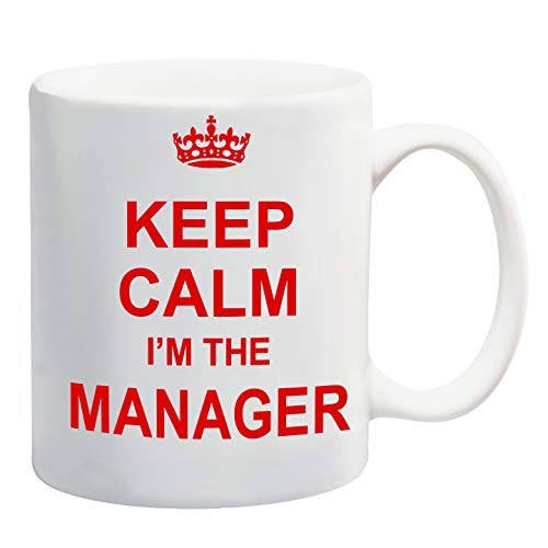 Keep Calm I'm The Manager Red Mug Gift Present