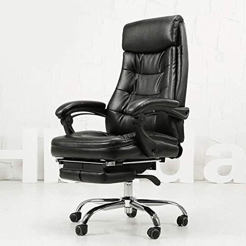 GXDHOME Boss Stuhl Büro-Gaming-Stuhl Aus Leder Mit Hoher Rückenlehne, Ergonomischer Drehbarer Chefsessel Mit Ausziehbarer Fußstütze Und Ausziehbaren Armen Computer Stuhl (Color : B)