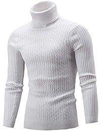 Herren Männer Nner Pullover Langarm Fashion Freizeit Winter Pulli Hoher  Kragen Strickpullover Rollkragenpullover 8893a82eff