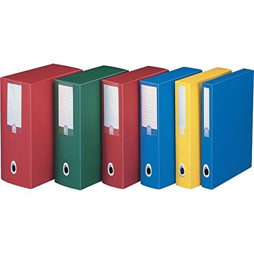Fellowes u210ro, scatola progetto plus, rosso, dorso 10 cm