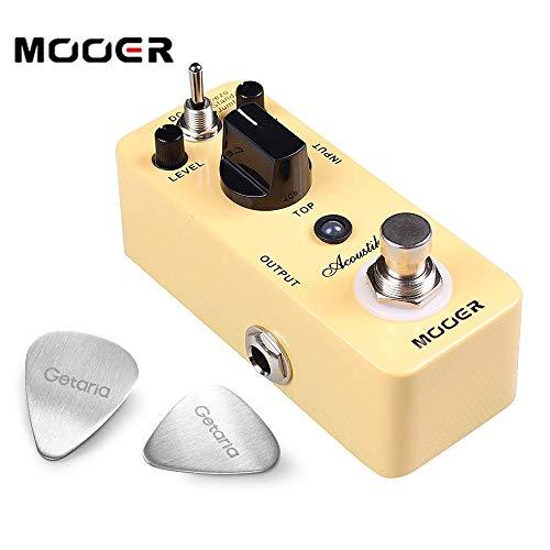 Mooer Guitar Effect Pedals Akoustikar Acoustic Simulator Audio with 2 Getaria Guitar Picks