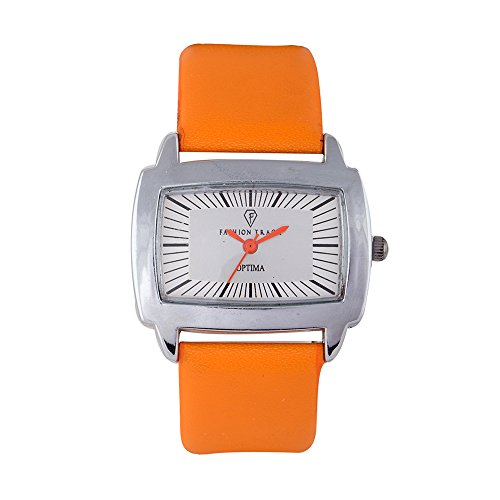 Optima FT-ANL-2471-OR Fashion Track Analog Watch For Girls