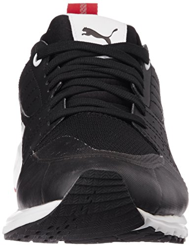 Puma Pitlane Sf Night Cat, Baskets Basses mixte adulte Noir - Noir (noir/blanc 02)