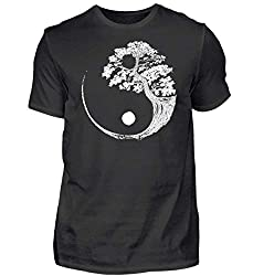 Yin Yang Bonsai Baum Japan Buddha Zen Yoga Meditation Kanji Geschenk - Herren Shirt
