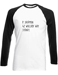 Brand88 P Sherman 42 Wallaby Way Sydney, Long Sleeve Baseball Tee