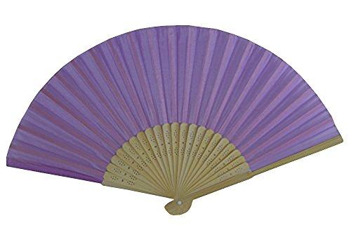 Rangebow SHF05 Mauve Violet Mauve (Lot de 10) de gros en soie élégant Éventail en bambou cadeau mariage faveur de la cage thoracique