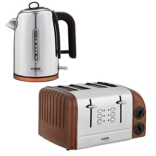 61719cb8f419 Save 40% - Cooks Professional Electric Kettle Toaster Set 1