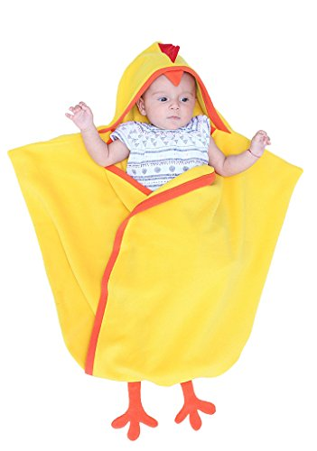 Bébé Sac de couchage, Swaddlesack, Sleepingsack, Dragon, Poussin ou Renne, Naissance de Noël, Baby Shower, Pâques, Cristening Cadeau, Echarpe de jaune yellow chick 0-6 mois