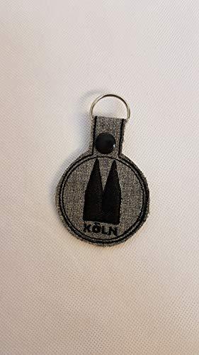 Schlüsselanhänger Köln Anhänger grau Charms Taschenbaumler Kölner Dom Geschenkidee