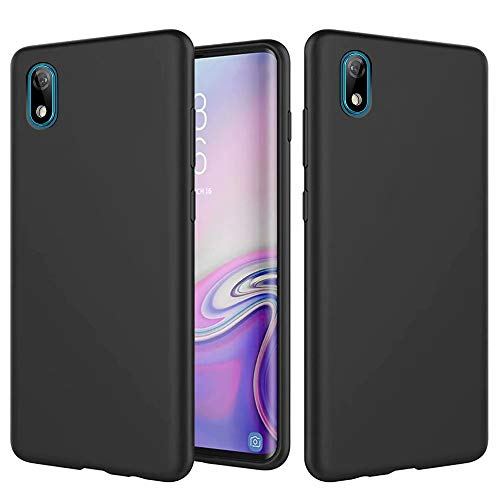 MUTOUREN TPU Hülle kompatibel mit Huawei Y5 2019/Honor 8S Handyhülle Ultra Dünne Flüssig Silikon Schutz Case Cover Anti-Scratch Stoßfest Schutzhülle Bumper, Schwarz
