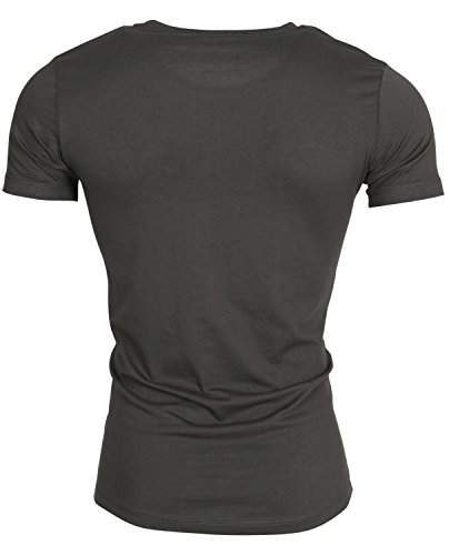 Tazzio Herren Polo Hemd Poloshirt Shirt Kurzarm Khaki Autol
