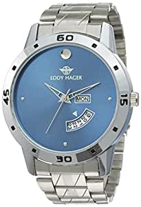 Eddy Hager Analogue Blue Dial Men's Watch - EH-210-BL
