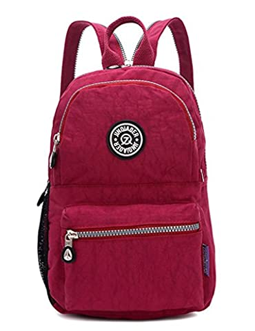 TianHengYi Girls Small Water Resistant Nylon Backpack light Sling Chest Bag Red