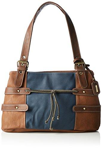Damen Handtasche Sattel (Rieker Henkeltaschen 36x22x10 cm (B x H x T) braun (sattel/ozean/24) H1042)