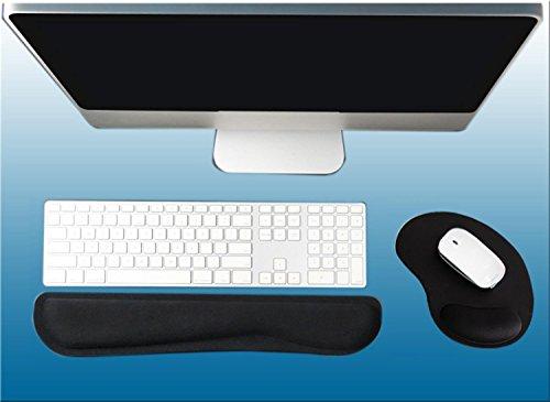 Gel Tastatur Handgelenkauflage Pad Kit-Tastatur Pad und ergonomische Mausunterlage mit Handgelenkstütze für Computer / Laptops Relif Schmerzen für Karpaltunnel (Schaum-notebook-kits)