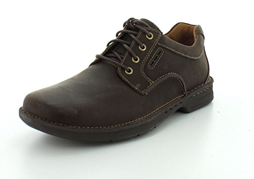 Clarks Untilary Way punta rotonda in pelle Oxford Dark Brown