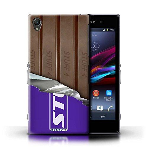 Kobalt® Imprimé Etui / Coque pour Sony Xperia Z1 / Mars Bar conception / Série Chocolat Doigts/Sticks Enveloppé