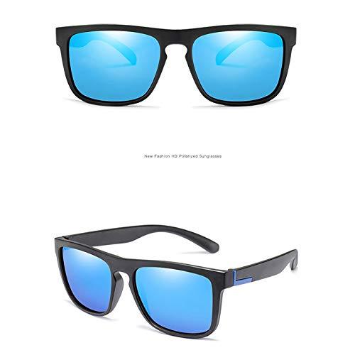 WWVAVA Sonnenbrillen Männer polarisierten Sonnenbrille TR90 Jahrgang Anti-UV Fahren Fahrer Schwarz Brille Brillen Rechteck Shades Männer, grau