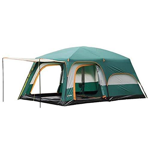 ASDAD Extra Großes Zelt Zwei Schlafzimmer Und EIN Wohnzimmer Zelt Gehen Aufrecht Im Freien Familie Camping Unabhängigen Raum 6-8 Personen Multifunktions Großes Zelt (grün) -
