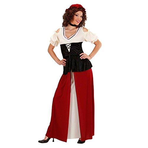 Mittelalter Kostüm Marktfrau Wirtin Magd Bäuerin Marktkostüm Marktfrauenkostüm Schankmaid Fasching XL 46/48