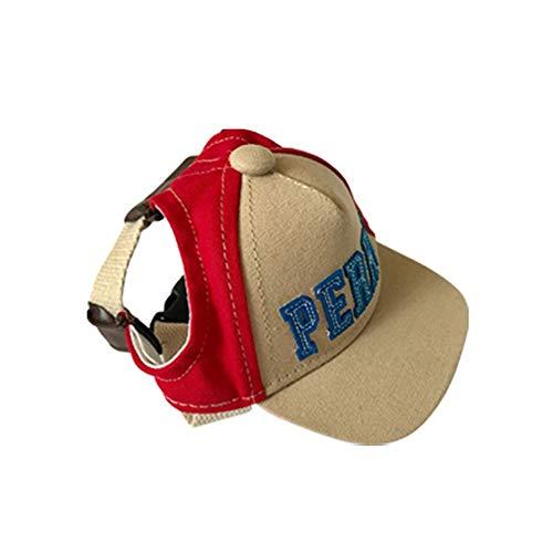 Pet Jacket Puppy Gemütliche Outfits Sonnencreme Haustier Hut Teddy Casual Sonnenhut Hund Baseball Canvas Breathable Cap. Mode niedlich Kostüm (Größe : S)