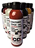 Leather Edge Paint Finish, Leather dye Craft Artist colourant, Edge Coat Finish. (Fire Red)