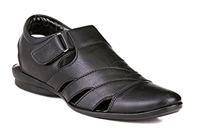 Mactree Men's Black Sandals-10 UK/India (44 EU)(mac8003black_44)
