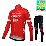 Sports Thriller Rider XiXiMei EU Estilo 9 Bicicleta de Montaña Invierno Térmico Cálido Ciclo Maillot para Hombre Chaqueta y Pantalones Largo de Ciclismo Combinación 2X-Large