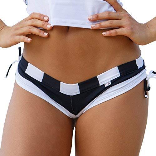 Wicked Weasel Damen Bekleidung Sexy Sailor Stripe - Cheeky Booty Shorts (576) - schwarz - X-Klein