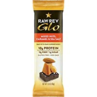 Raw Revolution - Raw Rev Glo misto noci barre Box caramello & sale marino - 12 bar