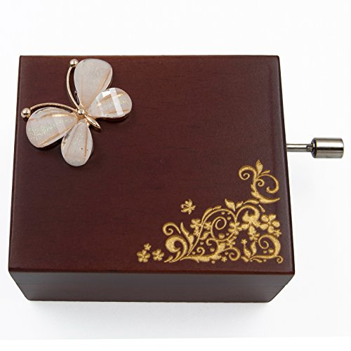 Mini Handcrank Music Box Tune of Happy Birthday(Butterfly) - Butterfly Music Box