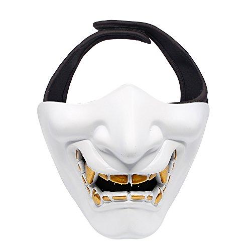 tsmaske - Eine Größe Passt die meisten - Gesichtsschutz Maske für Softair/Paintball/BB Gun/CS/Jagd/Schießen, ideal Maske für Halloween, Cosplay, Kostüm Party und Filmstütze (Weiß) ()