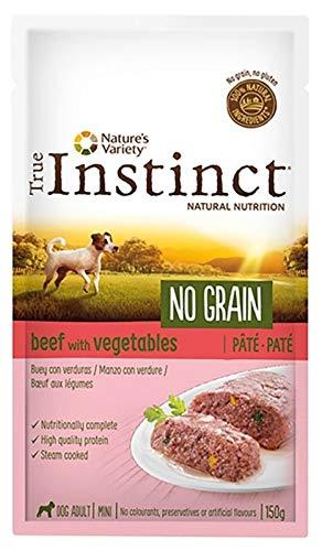 True instinct Comida Húmeda para Perros Adultos Minis no Grain Paté Buey con Verduras 150 gr