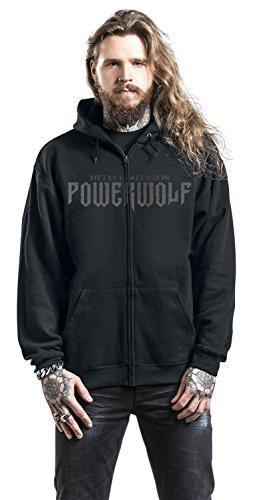 Powerwolf Dark Priest Sweat à capuche zippé noir Noir