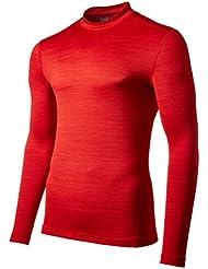 Under Armour Ua Cg Armour Twist Mock-Red//Gph T-Shirt de Protection Thermique Homme