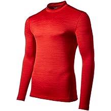 Under Armour UA CG ARMOUR TWIST MOCK - Camiseta de manga larga para Hombre, color Rojo, talla M